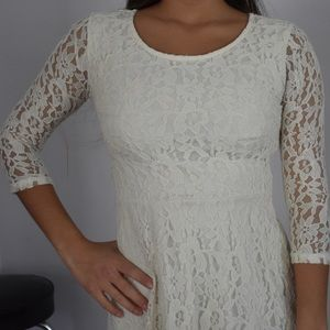 Lacy forever 21 white dress